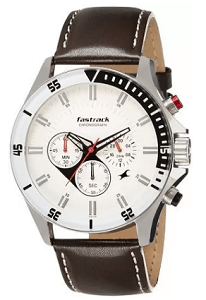 Fastrack Big Time Analog White Dial Men's Watch – ND3072SL01