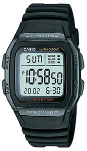 Casio Youth Digital Black Dial Men's Watch – W-96H-1BVDF