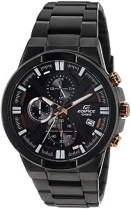 Casio Edifice Chronograph Black Dial Men's Watch - EFR-544BK-1A9VUDF
