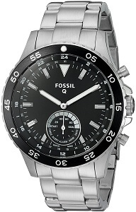 Fossil Q Crewmaster Hybrid Silver Stainless Steel Smartwatch