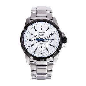 Seiko Designer Analog White Dial Men's Watch - SNE113P1