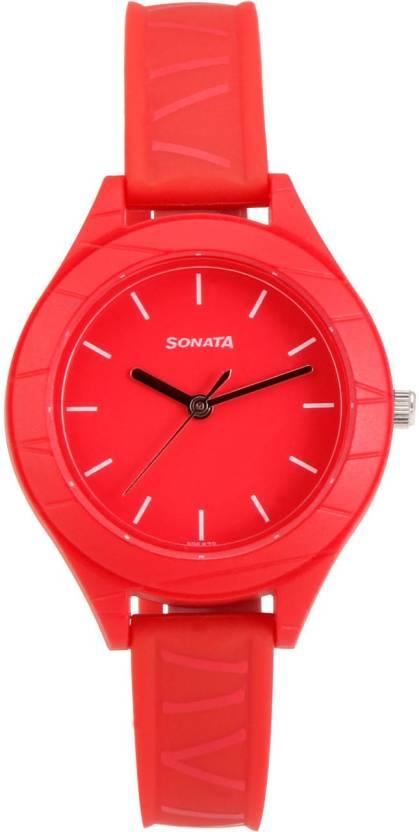 Sonata 87023PP01 Analog Watch for Girls