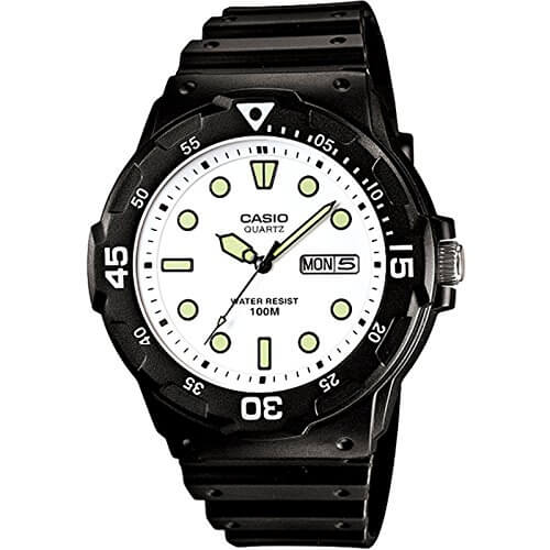 Casio Enticer Analog White Dial Men's Watch – MRW-200H-7EVDF