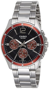 Casio Enticer Analog Black Dial Men's Watch – MTP-1374D-5AVDF