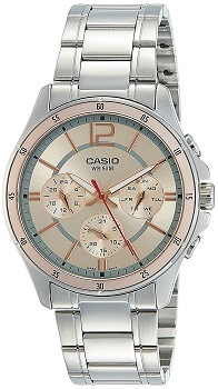 Casio Enticer Analog Pink Dial Men's Watch – MTP-1374D-9AVDF