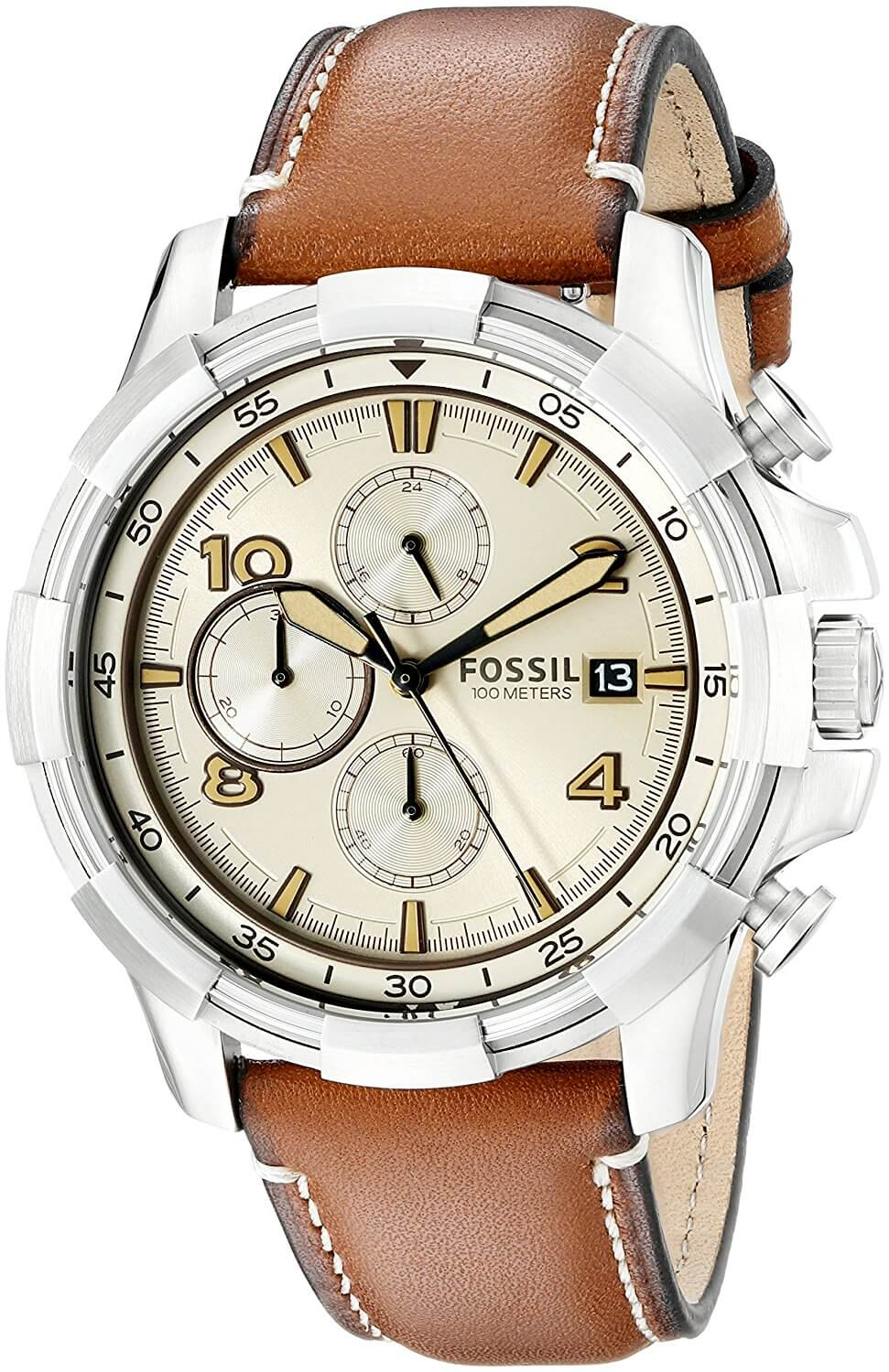 Fossil End-of-season Dean Analog Beige Dial Men's Watch – FS5130