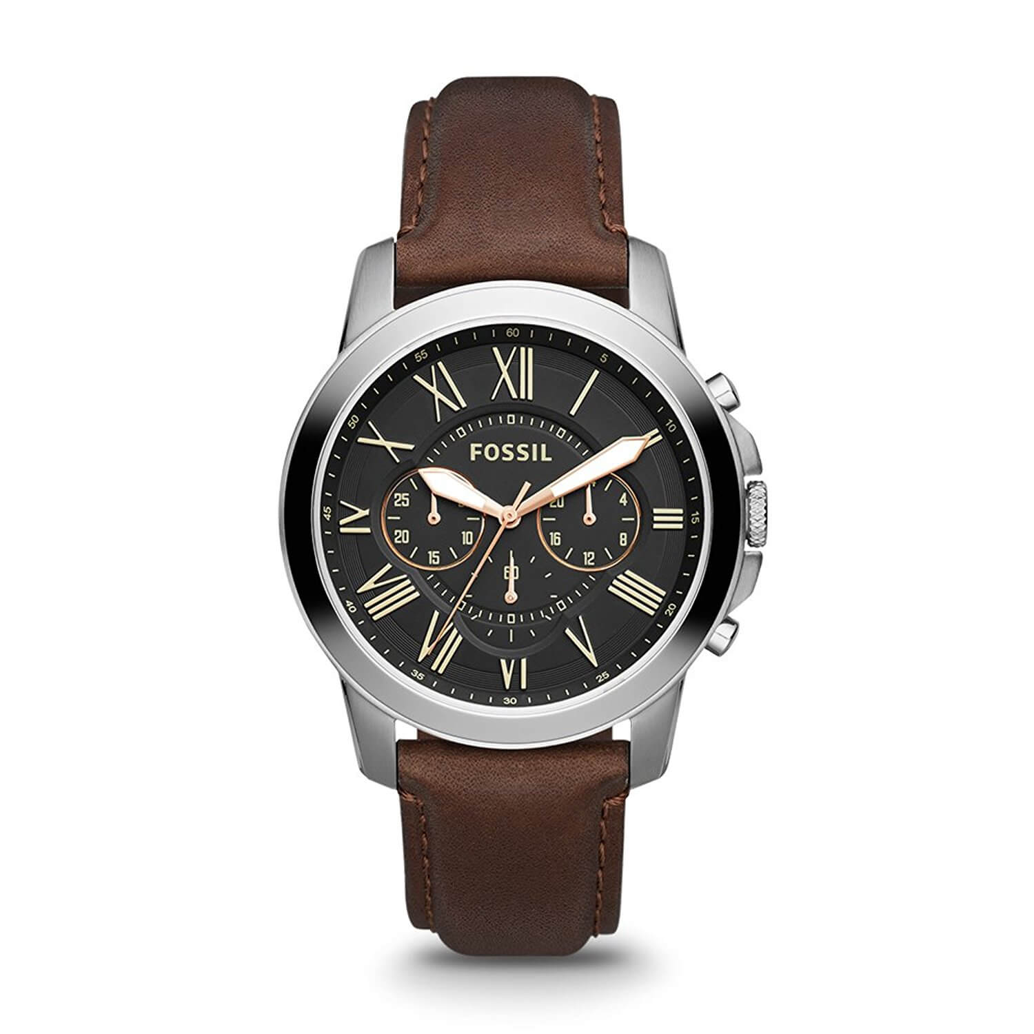 Fossil Grant Chronograph Analog Black Dial Men's Watch – FS4813
