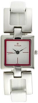 Titan Tagged Analog White Dial Women's Watch – NE2484SL02