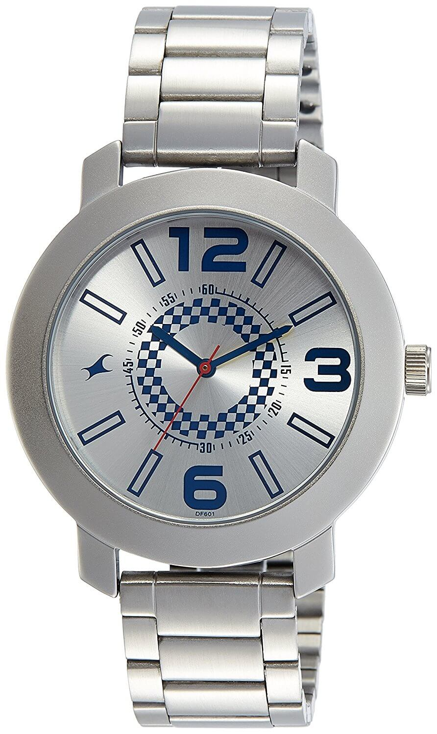 Fastrack Analog Silver Dial Men's Watch – 3120SM03
