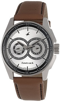 Fastrack Black Magic Analog Silver Dial Men's Watch – NE3089SL07