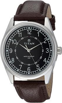Titan Men's 'Neo' Fashion Mineral Quartz Dial & Silver Toned Strap