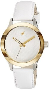 Fastrack Monochrome 6078SL02 Analog White Dial Women's Watch