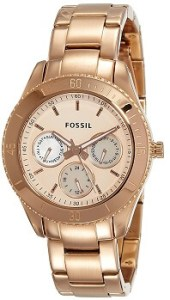 Fossil Designer ES2859 Analog Gold Dial Women's Watch