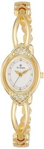 Titan Karishma NE2468YM04 Analog White Dial Women's Watch