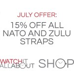 July Special Offer: 15% off NATO and Zulu straps!