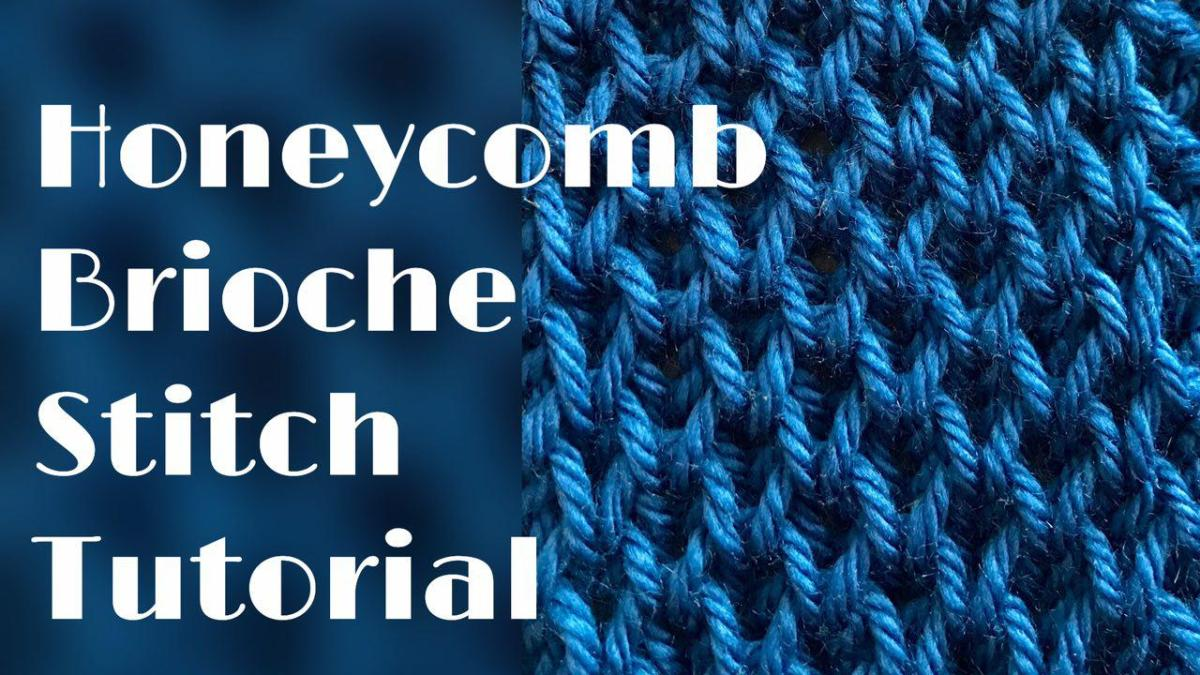 Honeycomb brioche stitch tutorial – stitch no.33