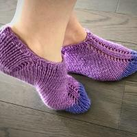Easy knit slippers