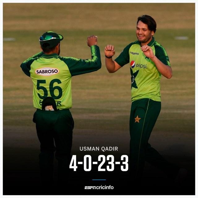 Usman Qadir 3 wickets Zimbabwe