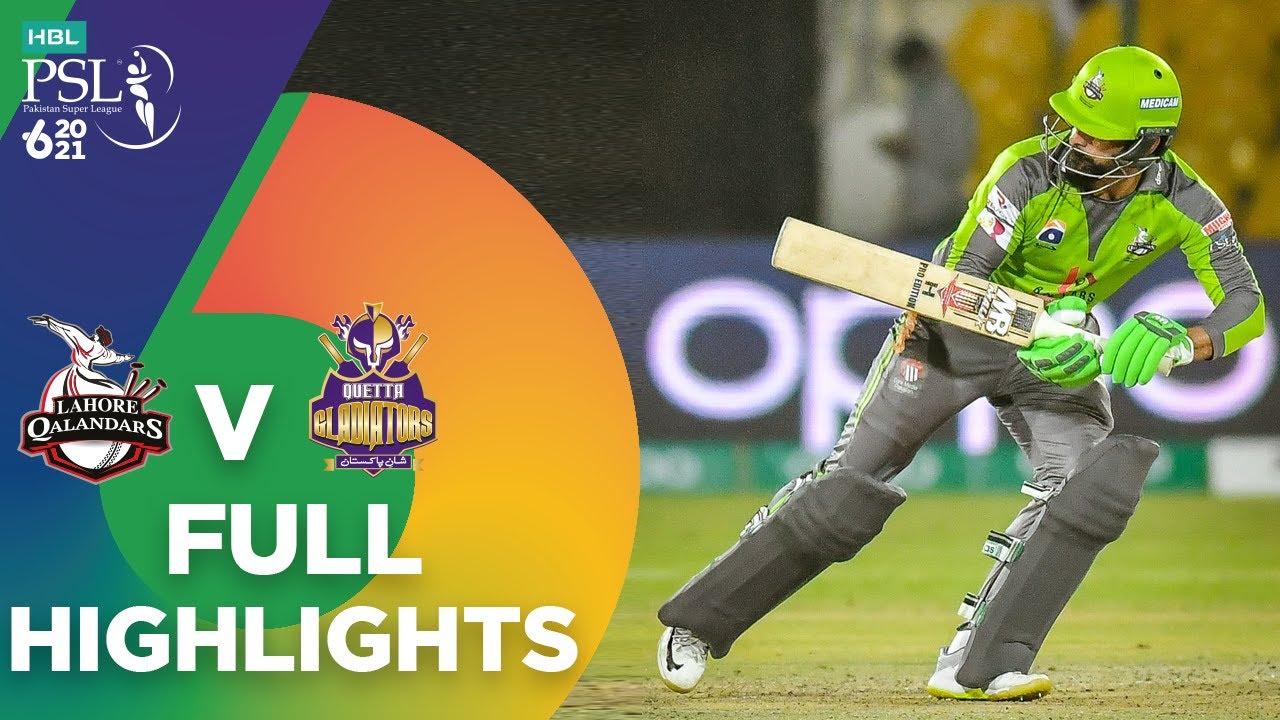 Lahore Qalandars vs Quetta Gladiators Match 4 – Highlights PSL 6 2021