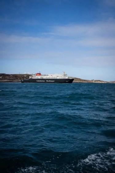 Calmac ferry in Scotland.