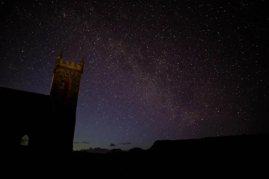 Dark sky photography of a starry sky on Coll.