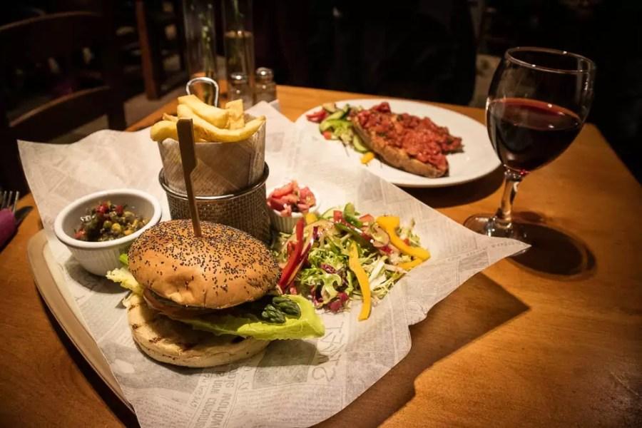 Vegan dinner at The Inn on Loch Lomond hotel in Inverbeg