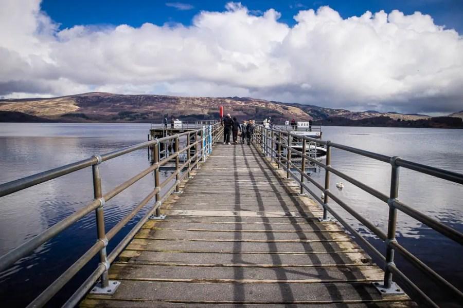 Luss pier at Loch Lomond