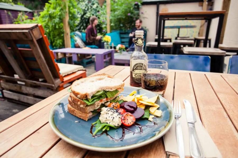 Vegan food at Bonobo vegan cafe in Aberdeen