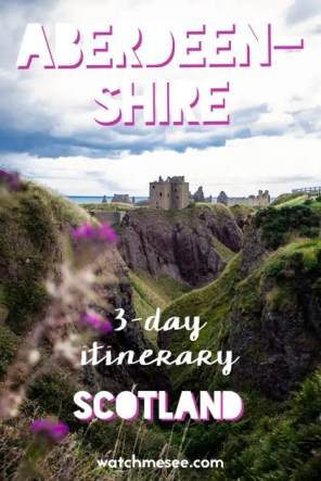 Need inspiration for a trip to Scotland's north east?? This 3-day Aberdeenshire itinerary includes the best castles, beaches, wildlife, & vegan food to try!