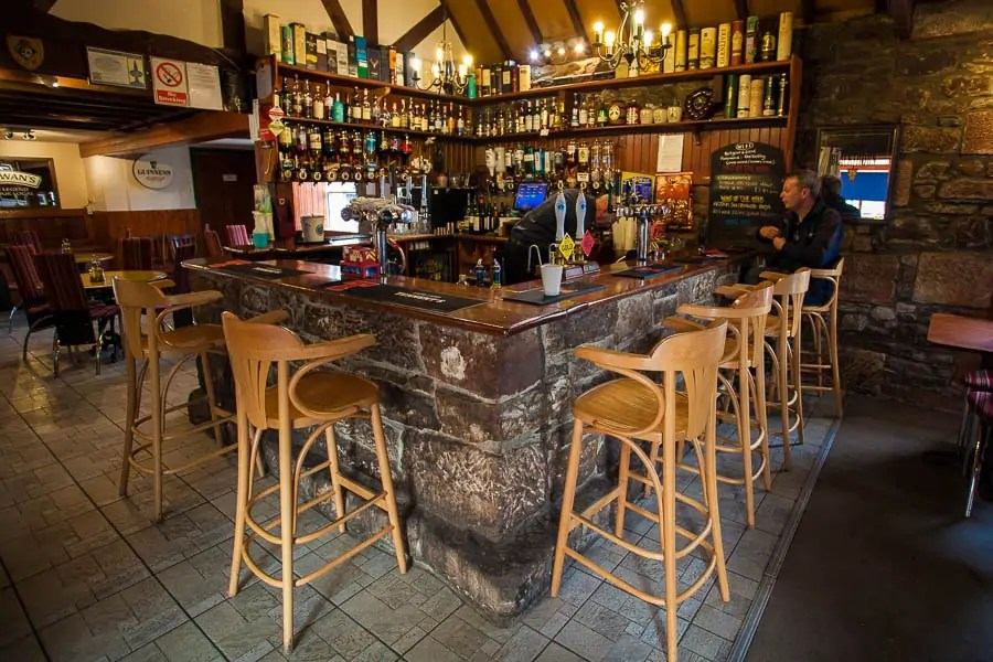 The bar at Bothy Restaurant in Fort Augustus.