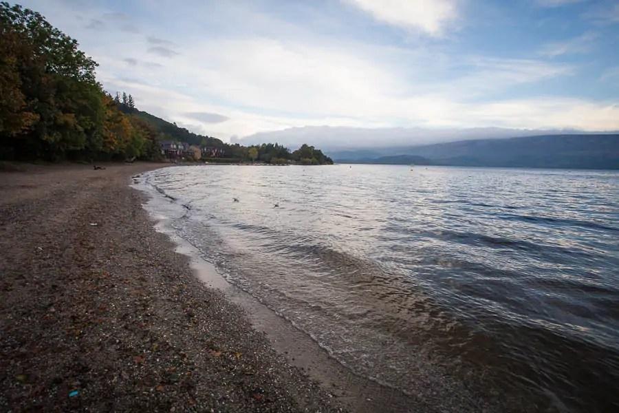 The beach of Luss at Loch Lomond