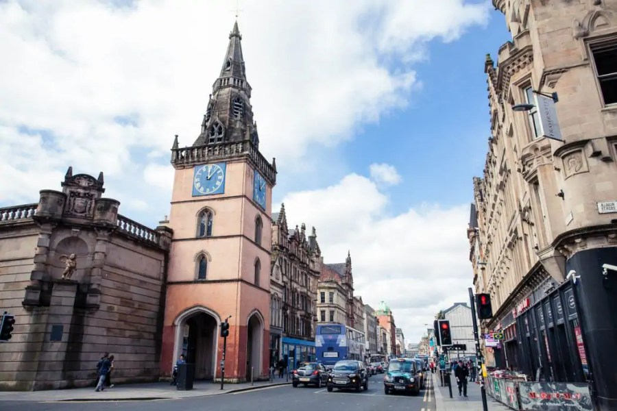 Trongate in the Merchant City of Glasgow
