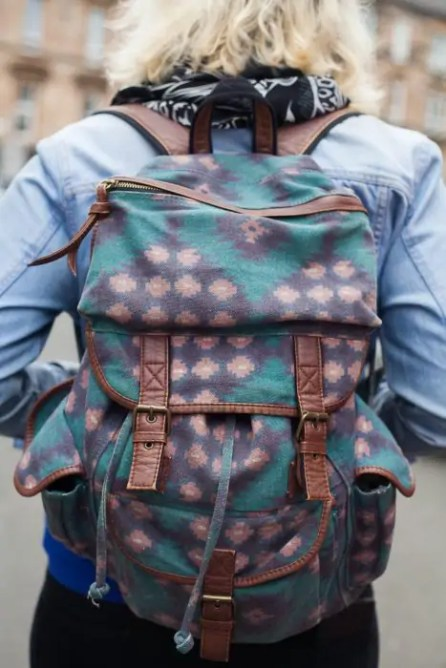 Backpacks allow for a handsfree travel experience, and are more spacious than most crossbody bags.