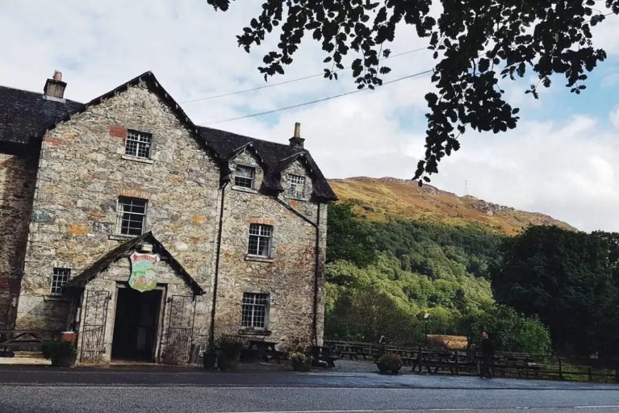 The Drovers Inn historical pub in Scotland