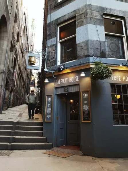 The Halfway House pub in Edinburgh's Old Town.