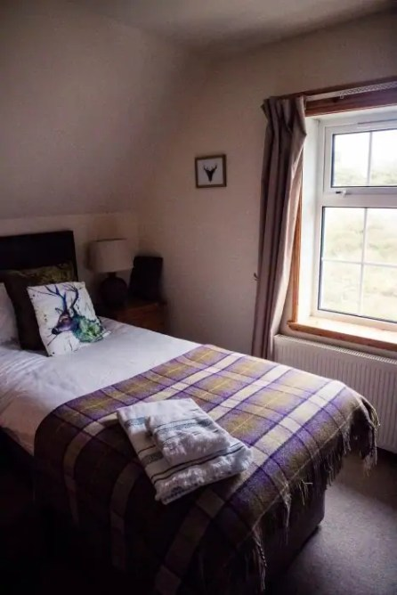 Mountain bedroom at Vigadale House on Harris