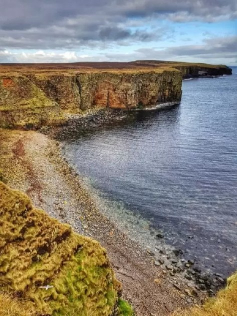 Sea cliffs at Mull Head, Orkney
