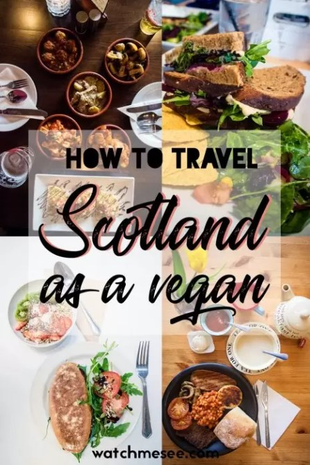 This is a guide to traveling Scotland as a vegan, incl. vegan options in traditional restaurants, vegan-friendly accommodation & local travel tips!