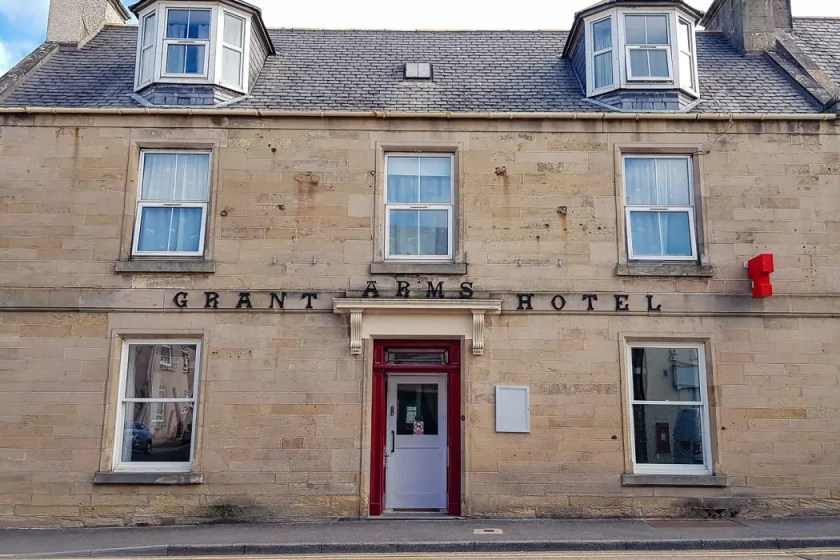 Grant Arms Hotel in Fochabers along the Speyside Way.