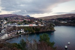The colourful harbour of Portree on the Isle of Skye.