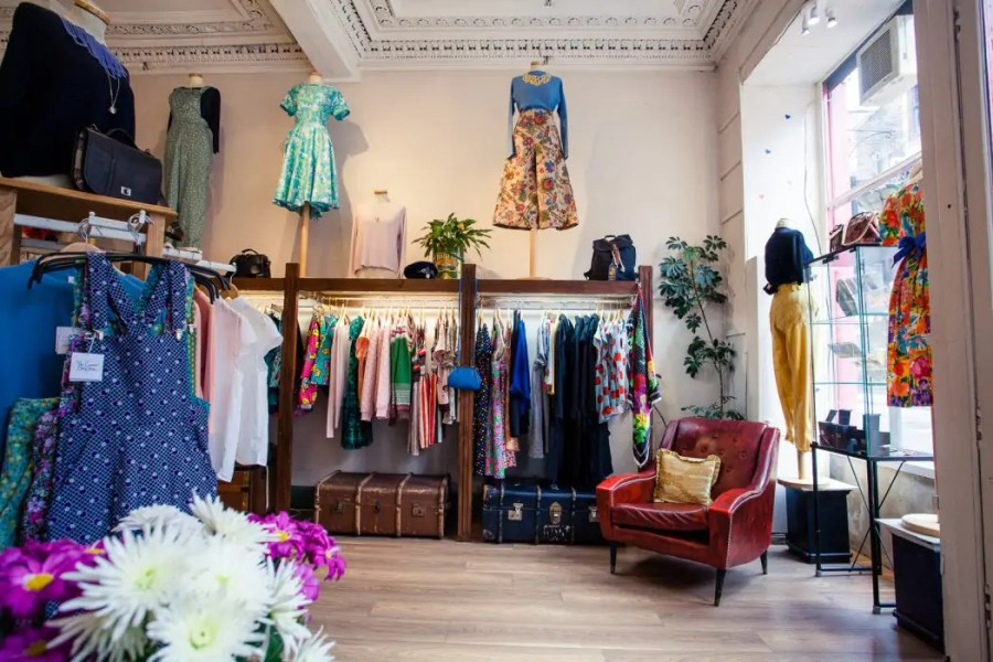 Shopping at Godiva Boutique on West Port in Edinburgh.
