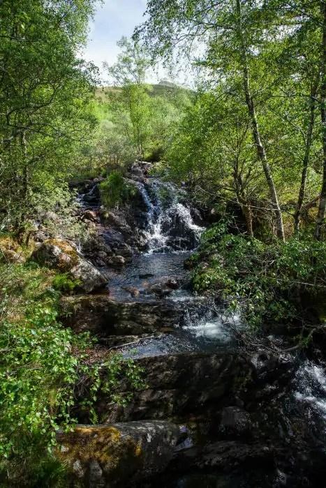 A waterfall in Scotland.