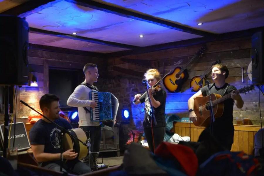 Live music at the Clachaig Inn in Glencoe