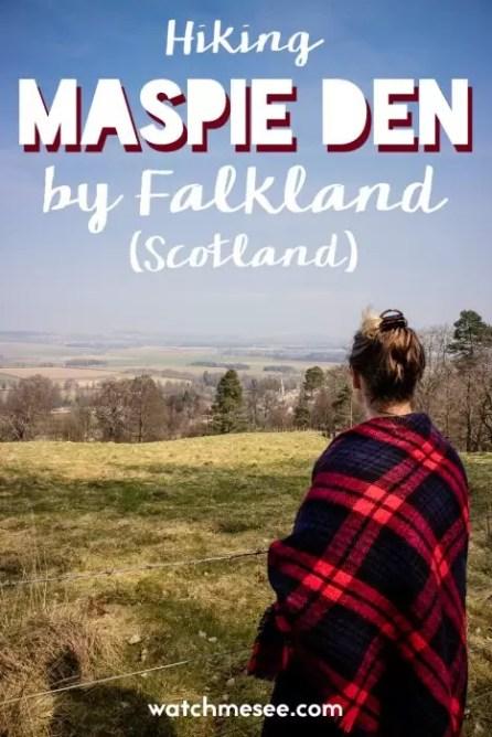 The walk up Maspie Den offers great views over Falkland village in Scotland.