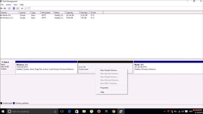 Dual Boot Cub Linux - Partition