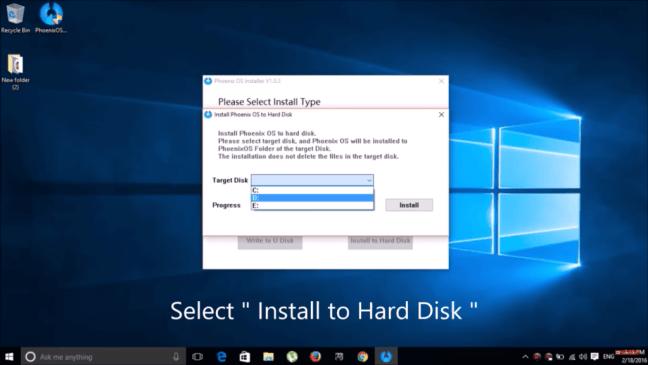 Dual Boot Phoenix OS - Hard Drive Install