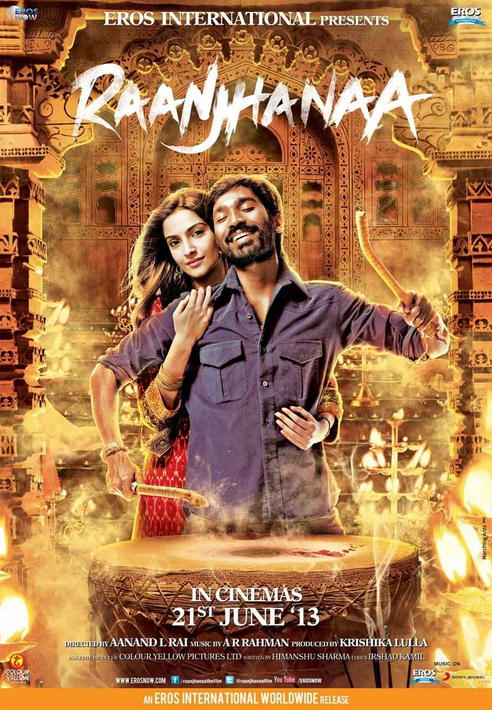 Raanjhanaa (2013) Full Movie Watch Online HD Print Free Download