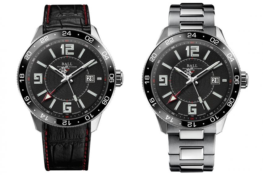 Ball Engineer Master II Pilot GMT on leather strap and on bracelet.