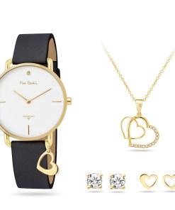 Pierre Cardin Geschenk Set Uhr & Halskette & Ohrringe PCDX8464L23