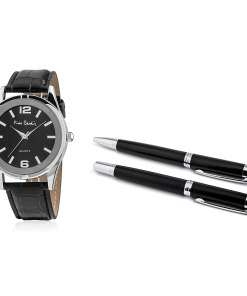 Pierre Cardin Geschenk Set Uhr & Kugelschreiber PCX8357G28